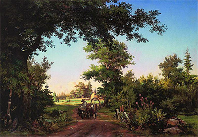 View from the Vicinity of St. Petersburg, 1856 | Ivan Shishkin | Giclée Canvas Print