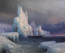 Aivazovsky | Ice Mountains in Antarctica, Icebergs | Giclée Canvas Print