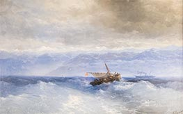 Aivazovsky   Caucasus Mountains from the Sea   Giclée Canvas Print