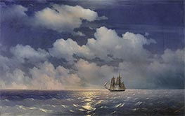Aivazovsky | The Brig Mercury Returns to Russian Squadron | Giclée Canvas Print
