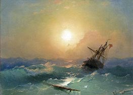 Aivazovsky | A Ship in Distress | Giclée Canvas Print