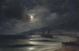 Aivazovsky | On the Coast at Night | Giclée Canvas Print