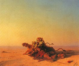 Aivazovsky | Lions in the Desert | Giclée Canvas Print