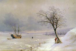 Aivazovsky | Frozen Bosphorus under Snow, 1874 | Giclée Canvas Print