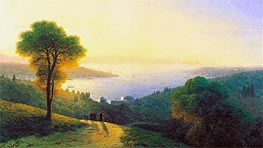 Aivazovsky | Constantinople from Topkapi, 1874 | Giclée Canvas Print