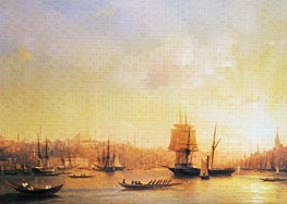 Aivazovsky | Dusk on the Golden Horn, 1845 | Giclée Canvas Print
