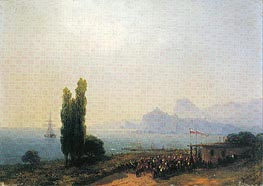 Aivazovsky | The Aivazovsky Estate at Sudak, an Imperial Welcome, 1867 | Giclée Canvas Print