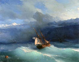 Aivazovsky | Along the Coast, undated | Giclée Canvas Print