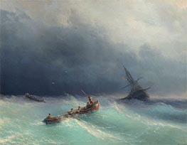 Aivazovsky | Storm at Sea, 1873 | Giclée Canvas Print