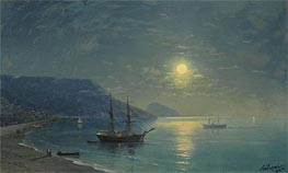 Aivazovsky | Evening in Crimea | Giclée Canvas Print