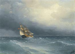 Aivazovsky | The Lifting Storm | Giclée Canvas Print