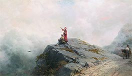 Aivazovsky   Dante and the Painter in the Mountains, 1883   Giclée Canvas Print