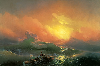 Aivazovsky | The Ninth Wave, 1850 | Giclée Canvas Print