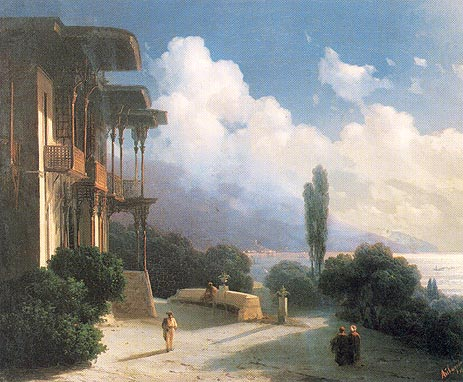 The Vicinities of Yalta at Night, 1866   Aivazovsky   Painting Reproduction
