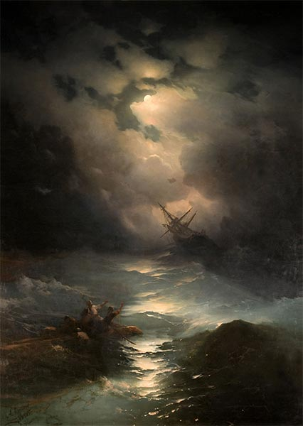 Storm in the North Sea, 1865 | Aivazovsky | Giclée Canvas Print