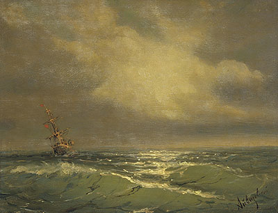 Sunlit Waves, undated | Aivazovsky | Painting Reproduction