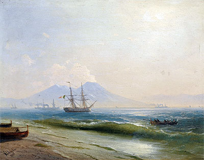Aivazovsky | View of Mount Vesuvius, 1878 | Giclée Canvas Print