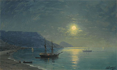 Evening in Crimea, 1895 | Aivazovsky | Painting Reproduction