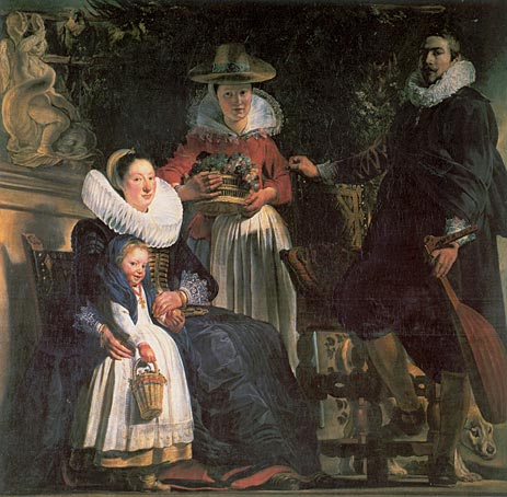 The Artist and his Family, c.1621/22 | Jacob Jordaens | Painting Reproduction