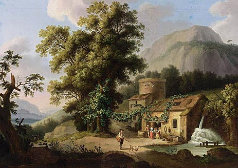 View of the Copper-Mill in Vietri, c.1773   Philippe Hackert   Giclée Canvas Print
