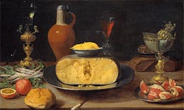   Breakfast Piece with Cheese and Goblets, Undated   Giclée Canvas Print