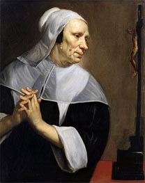 Jacob van Oost | Old Woman Praying, undated | Giclée Canvas Print