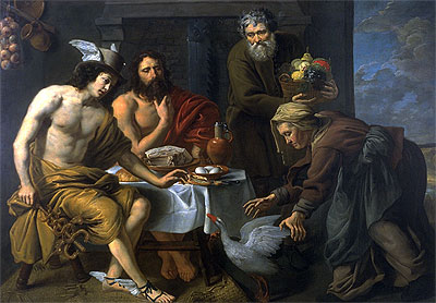 Mercury and Jupiter in the House of Philemon and Baucis, undated | Jacob van Oost | Giclée Canvas Print