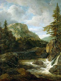 Ruisdael | Mountain Landscape with Waterfall | Giclée Canvas Print