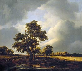 Ruisdael | Landscape with Shepherds and Peasants (After the Storm) | Giclée Canvas Print