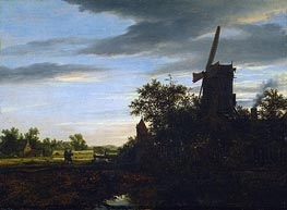 Ruisdael | A Windmill near Fields | Giclée Canvas Print