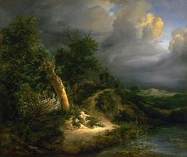 Ruisdael | Storm on the Dunes | Giclée Canvas Print