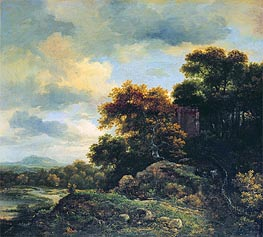 Ruisdael | Landscape with Wooded Hillock  | Giclée Canvas Print