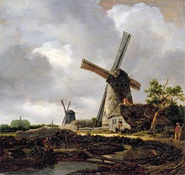 Ruisdael | Landscape with Windmills near Haarlem | Giclée Canvas Print