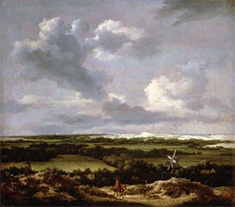 Ruisdael | Dune Landscape with a Rabbit Hunt | Giclée Canvas Print