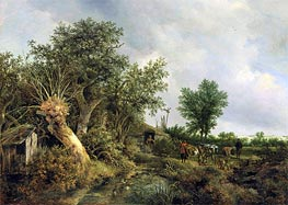 Ruisdael | Landscape with a Hut | Giclée Canvas Print