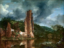 Ruisdael | Landscape with the Ruins of the Castle of Egmond | Giclée Canvas Print