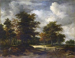 Ruisdael | A Road Leading into a Wood | Giclée Canvas Print