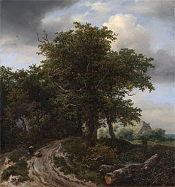 Ruisdael | A Road Winding between Trees towards a Distant Cottage | Giclée Canvas Print