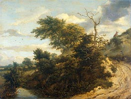 Ruisdael | Dirt Road in the Dunes | Giclée Canvas Print