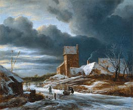 Ruisdael | Winter Landscape | Giclée Canvas Print