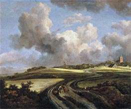 Ruisdael | Road through Fields of Corn near the Zuider Zee | Giclée Canvas Print