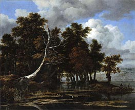 Ruisdael | Oaks at a Lake with Water Lilies | Giclée Canvas Print