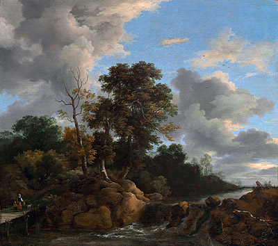 Landscape, c.1670 | Ruisdael | Painting Reproduction
