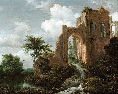 Entrance Gate of the Castle of Brederode, c.1655 | Ruisdael | Giclée Canvas Print