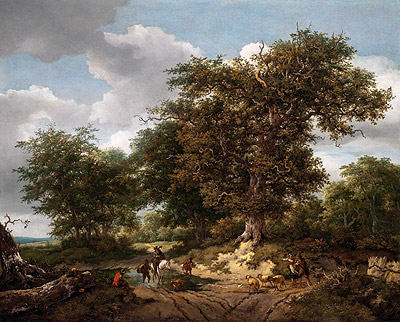 The Great Oak, 1652 | Ruisdael | Giclée Canvas Print