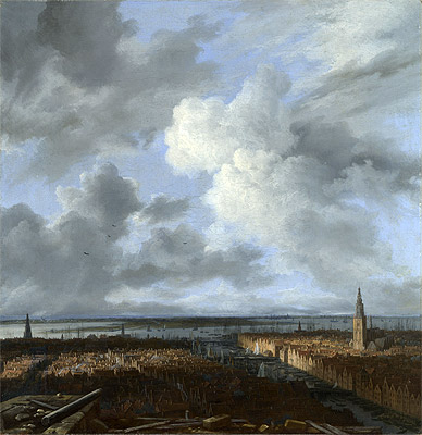 A Panoramic View of Amsterdam looking towards the IJ, c.1665/70 | Ruisdael | Giclée Canvas Print