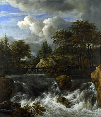 A Waterfall in a Rocky Landscape, c.1660/70 | Ruisdael | Giclée Canvas Print