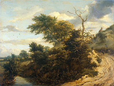 Dirt Road in the Dunes, 1655 | Ruisdael | Giclée Canvas Print