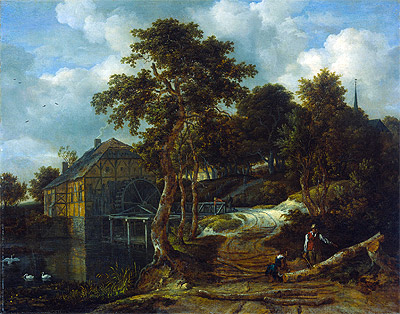 Landscape with Watermill, 1661 | Ruisdael | Giclée Canvas Print