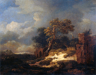 Landscape with Ruins, 1682 | Ruisdael | Painting Reproduction